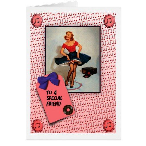 1950'S JIVING PIN UP GIRL  RETRO CARDS