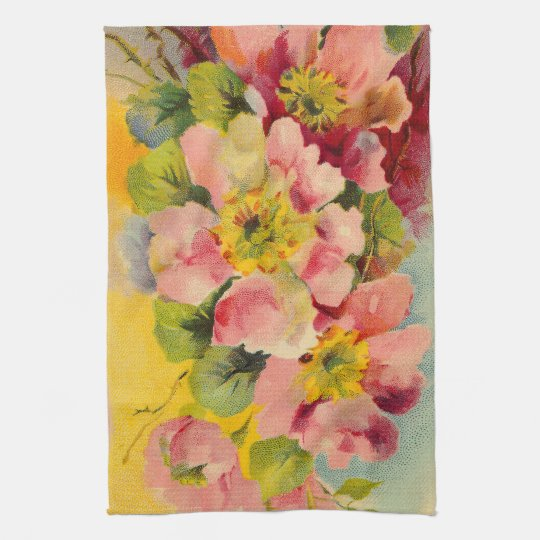 1950s Kitchen Vintage Retro Floral Tea Towel