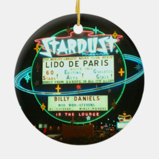 1950's Las Vegas Stardust Casino Neon Sign Round Ceramic Decoration