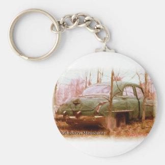 1950's Oldsmobile Barn Yard Memories Basic Round Button Key Ring