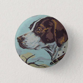 1950s Paint-by-Number English Springer Spaniel 3 Cm Round Badge