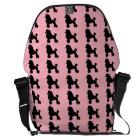 1950's Pink Poodle Messenger Bag