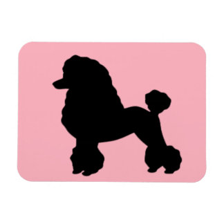 1950's Pink Poodle Skirt Inspired Flexible Magnet