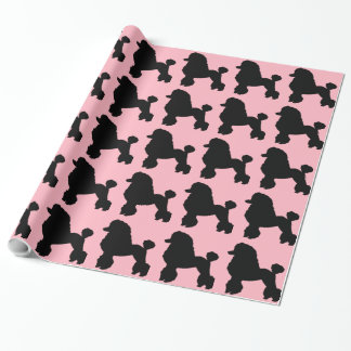 1950s Pink Poodle Skirt Inspired Wrapping Paper