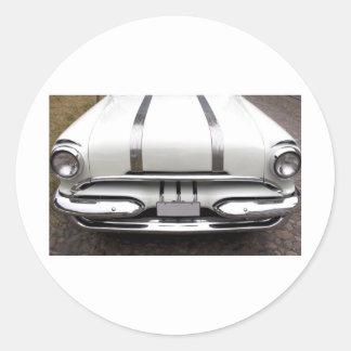 1950s Pontiac Round Sticker