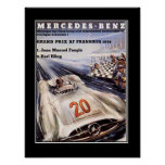 1950's Racing Car Vintage Poster