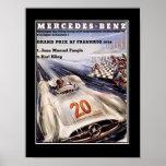 1950's Racing Car Vintage Poster Print