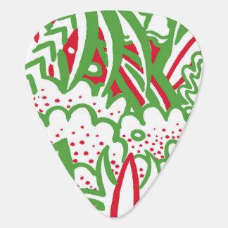 1950s Retro-Art - Christmas Colors Plectrum