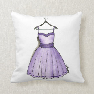 1950s Retro Prom Party Dress Fashionista Pillow Throw Cushions