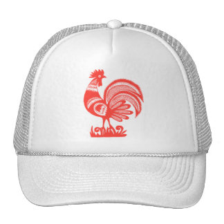1950s Rooster Mesh Hats