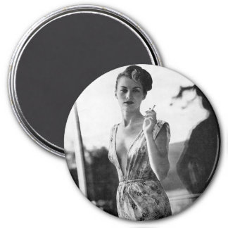 1950s Smoking Showgirl on break Magnet