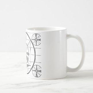 1950s Test Pattern coffee mug