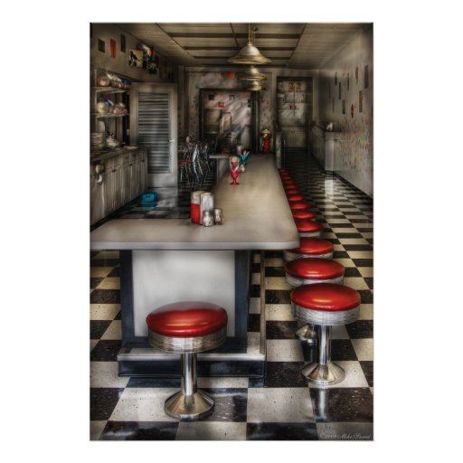 1950's - The Ice Cream Parlour Poster