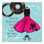 1950's Theme Birthday Party Custom Invites