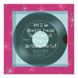 1950's Theme Birthday Party Invitations 13 Cm X 13 Cm Square Invitation Card