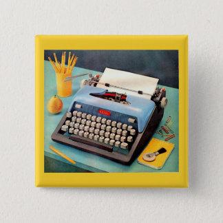 1950s typewriter 15 cm square badge