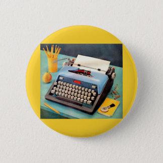 1950s typewriter ad image 6 cm round badge