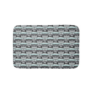 1950s Vintage Car Pattern Bath Mat