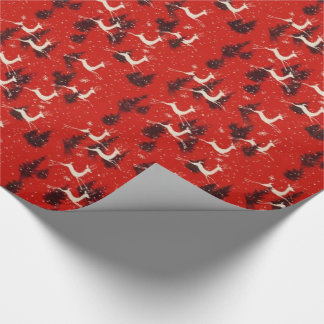 1950s Vintage Christmas Reindeer Gift Wrap