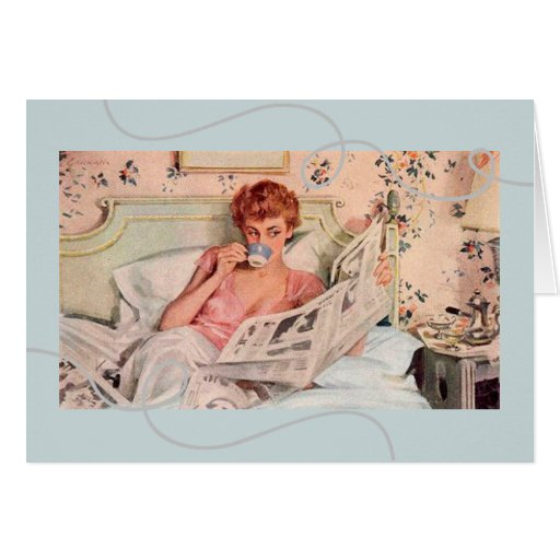 1950's Vintage-Inspired Birthday Wishes Greeting Card