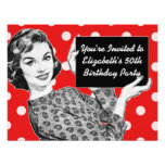 1950s Woman with a Sign Birthday