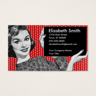 1950s Woman with a Sign Business Card