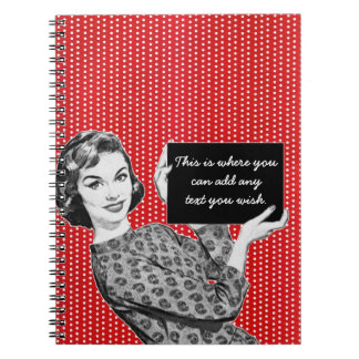 1950s Woman with a Sign Notebooks