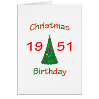 1951 Christmas Birthday Greeting Card
