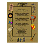 1951 Great Events Birthday Card Postcards