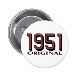 1951 Original 6 Cm Round Badge