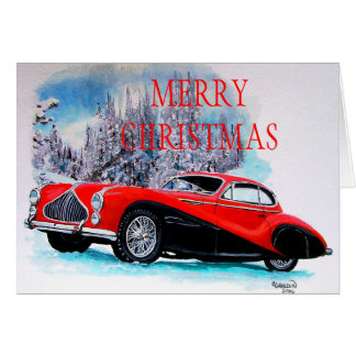 1951 Talbot-Lago T26 GS Coupe CHRISTMAS CARD