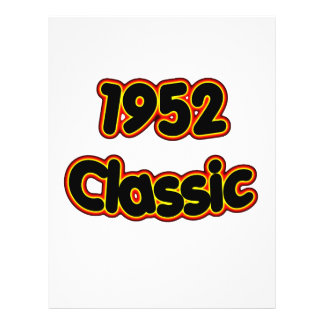1952 Classic 21.5 Cm X 28 Cm Flyer