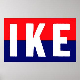 1952 Ike for President Poster