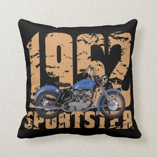 1952 Sportster Throw Pillow