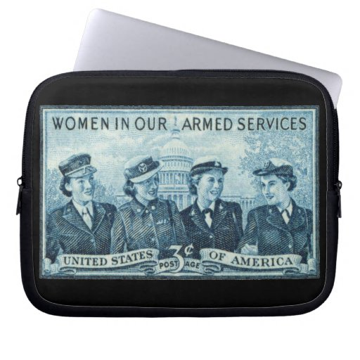 1952 Women in US Armed Services Laptop Computer Sleeves