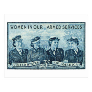 1952 Women in US Armed Services Stamp Postcard