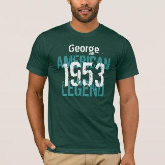 1953 Birthday Year American Legend Custom Name T-Shirt