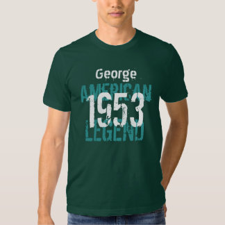 1953 Birthday Year American Legend Custom Name Tshirt