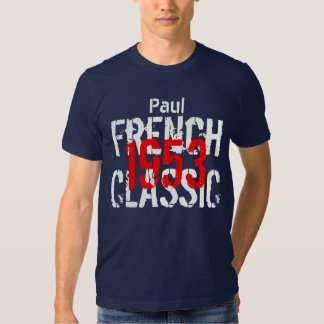 1953 French Classic 60th Birthday Gift for Him Tshirt