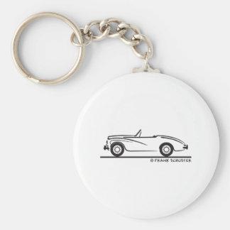 1953 Sunbeam Alpine Basic Round Button Key Ring