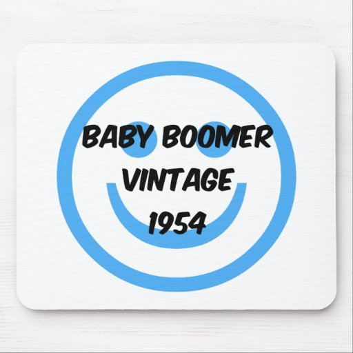 1954 baby boomer mouse pads | Zazzle