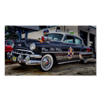 1954 Chevy D.A.R.E. Police Car Pine Hill NJ Poster