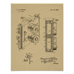 1954 Dual Camera Patent Art Drawing Print