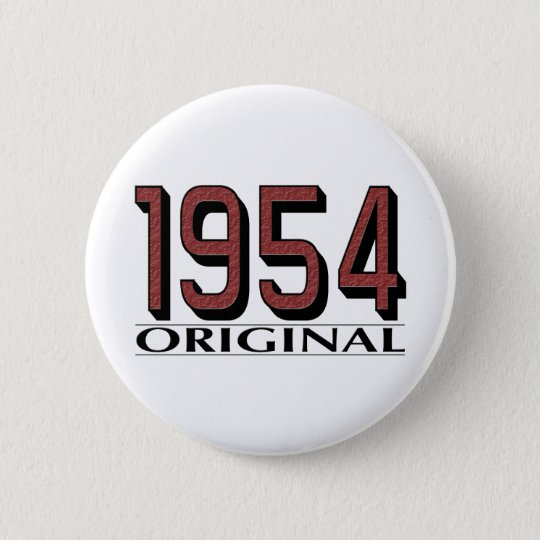 1954 Original 6 Cm Round Badge