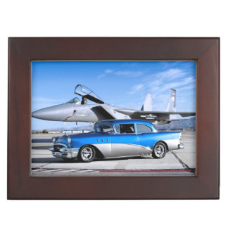 1955 Buick Special Classic Car Fighter Jet Keepsake Box