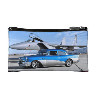 1955 Buick Special Classic Car Fighter Jet Makeup Bag