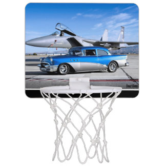 1955 Buick Special Classic Car Fighter Jet Mini Basketball Hoop