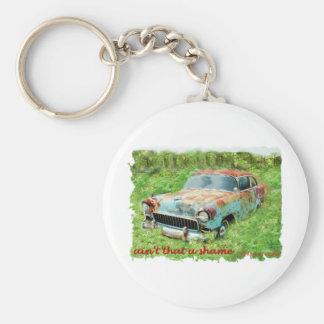 1955 Chevrolet 2Door. Basic Round Button Key Ring