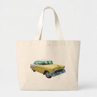 1955 Chevrolet Bel Air Antique Car Large Tote Bag