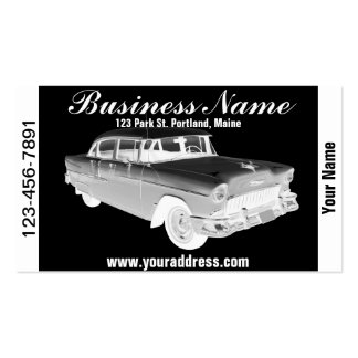 1955 Chevrolet Bel Air Classic Car Art Business Card Templates
